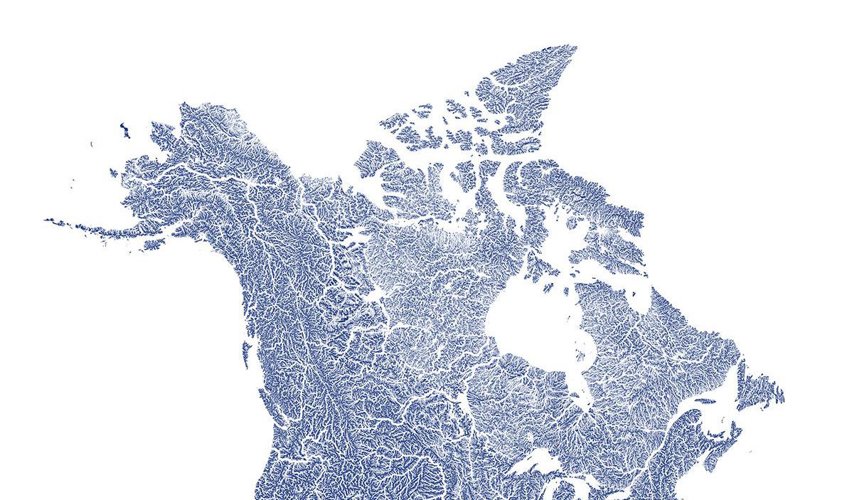 Canada Hydrology Map